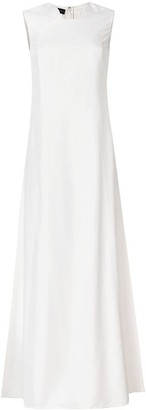 Talbot Runhof Sleeveless Flared Dress