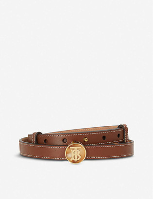 Burberry Monogram-embellished leather belt