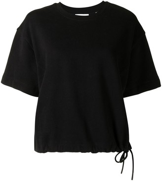 Vince wide sleeve drawcord T-shirt