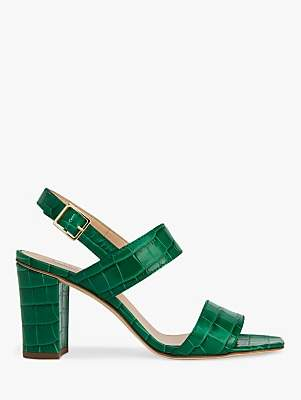 LK Bennett L.K.Bennett Rhiannon Croc Sandals, Green Leather