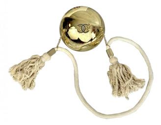 Chanel Pearl Bag Gold Plastic Handbags