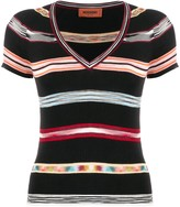 Missoni striped short-sleeve top