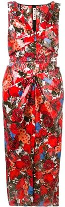 Marni floral print fitted dress