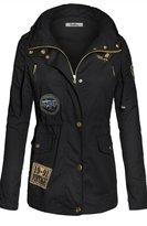 BodiLove Women's Military Anorak Parka Utility Hoodie jackets M (YJ 3101)