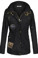 BodiLove Women's Military Anorak Parka Utility Hoodie jackets S (YJ 3101)