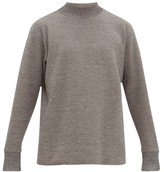 Snow Peak Funnel-neck Dropped-sleeve Sweater - Mens - Grey