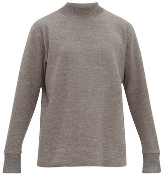 Snow Peak Funnel Neck Dropped Sleeve Sweater - Mens - Grey