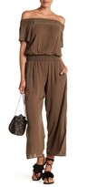 Democracy Off-the-Shoulder Smock Waist Jumpsuit