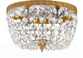 Horchow Small Prism Brass Flush-Mount Ceiling Fixture
