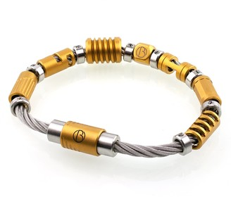 Bailey Of Sheffield Cable Fully Loaded Custom Matte Gold Bracelet