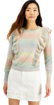 INC International Concepts Inc Ruffled Sweater, Created for Macy's