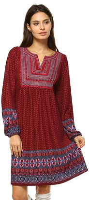 White Mark Women's Smocked Sweaterdress