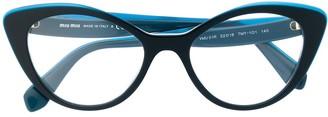 Miu Miu cat eye frame glasses