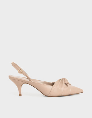 Charles & Keith Knotted Slingback Court Shoes