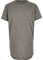 River Island Boys grey curved hem t-shirt
