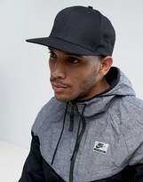 Asos Snapback Cap In Black