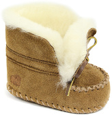 Lamo Chestnut Suede Moccasin Booties - Infant & Toddler