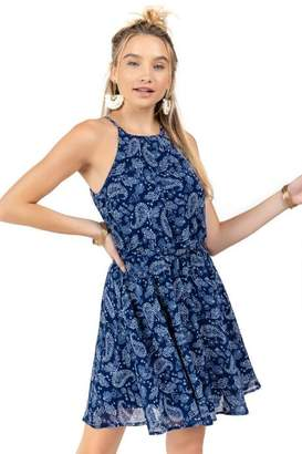 francesca's Flawless Paisley Dress - Blue