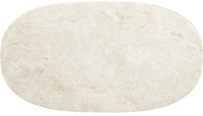 Crate & Barrel Ivory Marble Cheese Board