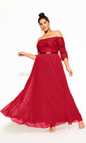 City Chic Intriguing Maxi Dress - red