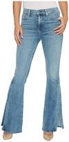 7 For All Mankind Ali Jeans w/ Side Seam Split in Gold Coast Waves Women's Jeans