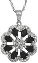 FINE JEWELRY Onyx and Diamond-Accent Sterling Silver Pendant