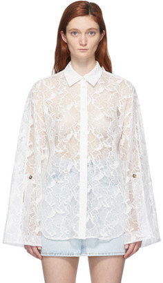 MSGM White Lace Shirt