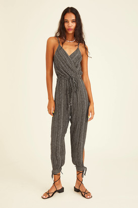 Dress Forum Patterned V-Neck Jumpsuit