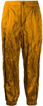 UMA WANG Poppy tapered creased trousers