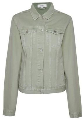 Dorothy Perkins Womens Dp Tall Green Denim Jacket