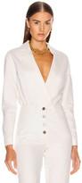 Zeynep Arcay Denim Bodysuit in White | FWRD