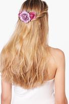 Boohoo Lucie Bridal Purple Floral Hair Slide