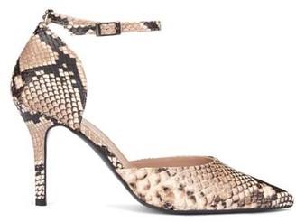 Mint Velvet Imogen Snake Print Court Shoes