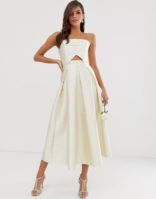 Asos Edition EDITION structured bandeau wedding dress