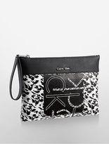 Calvin Klein Womens Kira Loft Wristlet Pouch