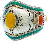 Devon Leigh Wide Mixed Stone Cuff