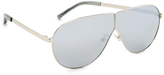 3.1 Phillip Lim Aviator Shield Mirrored Sunglasses