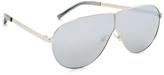 3.1 Phillip Lim Aviator Shield Mirrored Sunglasses