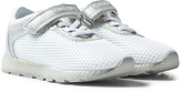 Lelli Kelly Kids White And Silver Light Up Emily Velcro And Elastic Trainers