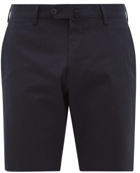 Odyssee - Combes Cotton-stretch Shorts - Mens - Navy