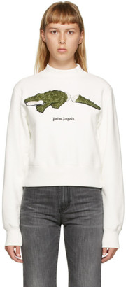 Palm Angels Off-White Croc Sweatshirt