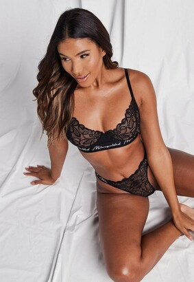 Missguided Black Lace Triangle Bra