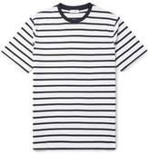 Sunspel Striped Cotton-jersey T-shirt - Midnight blue