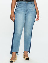 ELOQUII Plus Size Blocked Jeans
