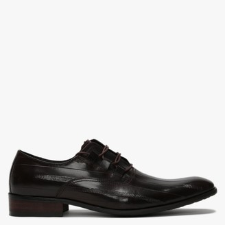 Daniel Xenoblast Brown Leather Loop Lace Up Shoes