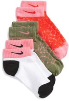 Nike Girl's Low Cut Graphic Socks