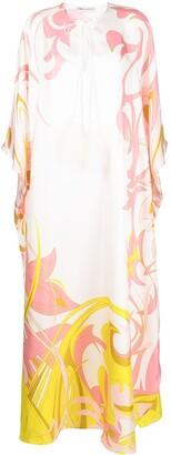 Emilio Pucci x Ramadan Dinamica print kaftan-style silk dress