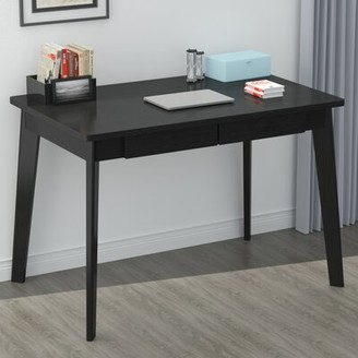 """George Oliver Romig Solid Wood Desk Color: Black, Size: 29"""" H x 39"""" W x 22"""" D"""