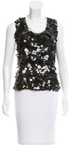 Giles Sequined Colorblock Top
