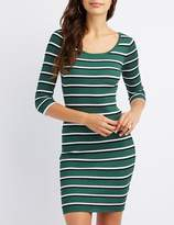 Charlotte Russe Striped Bodycon Sweater Dress
